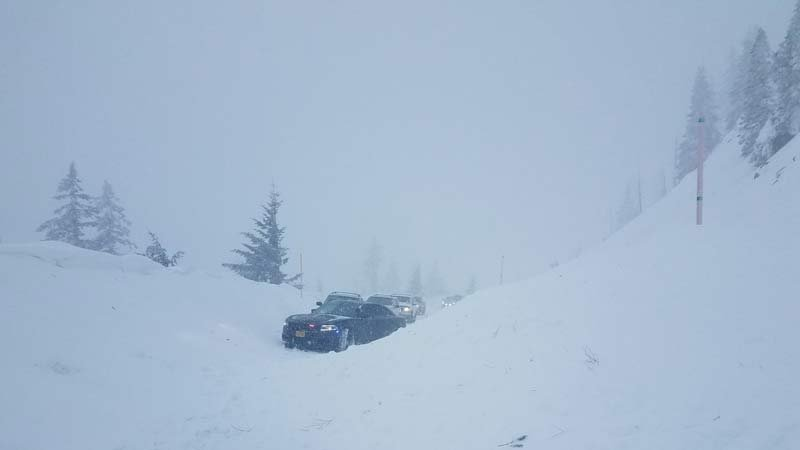 Avalanche near Santiam Pass summit on Highway 20 (Photo: Oregon State Police)