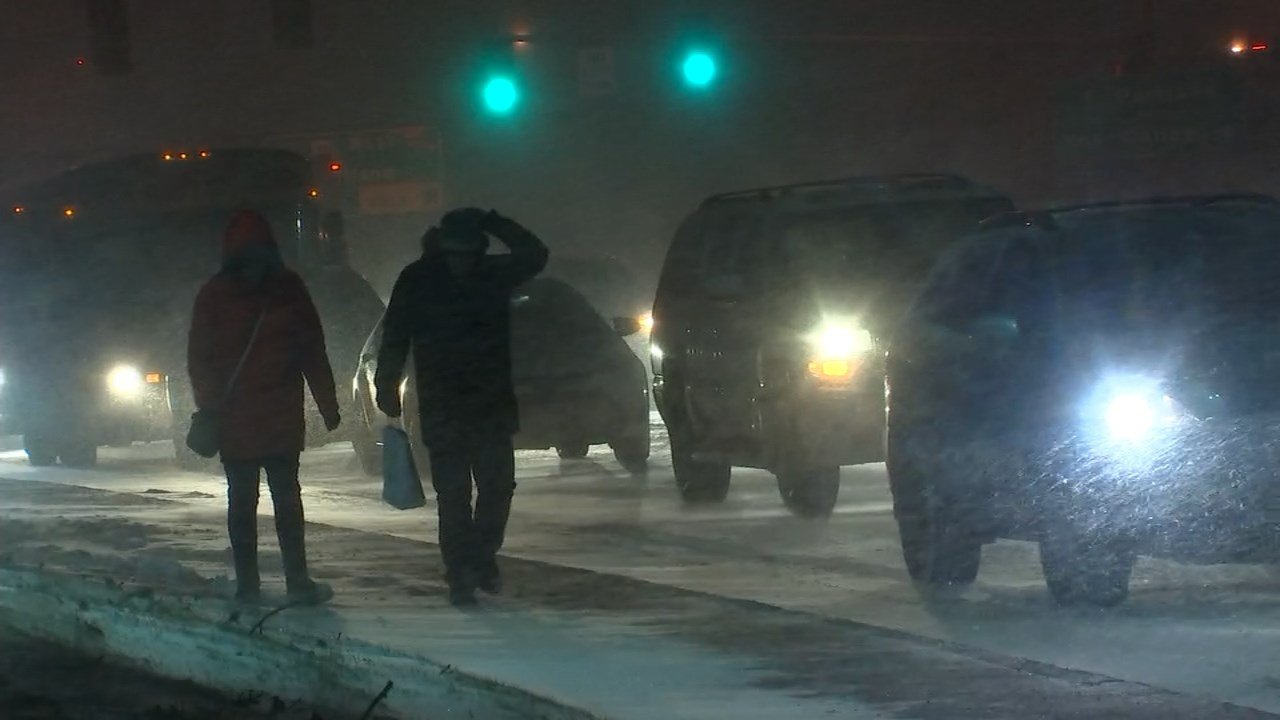 Wednesday's snowstorm (Image: KPTV)