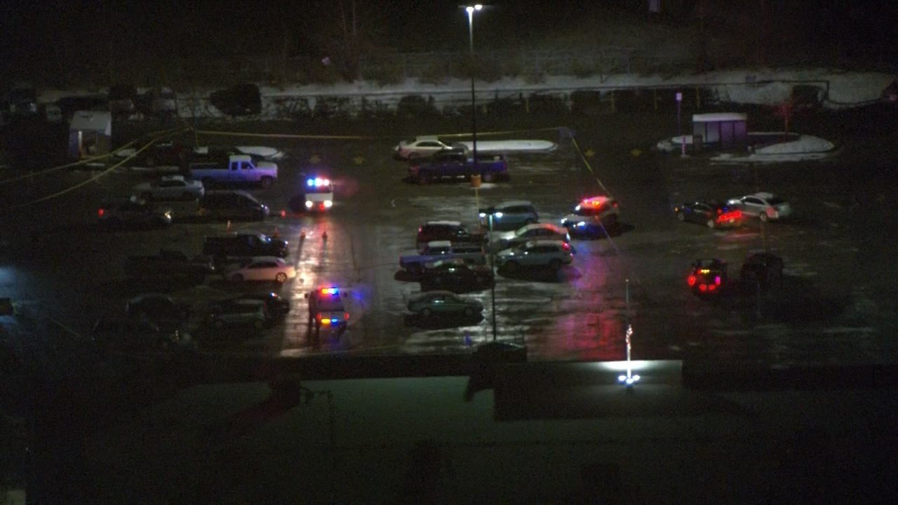 Investigators are on the scene of an officer-involved shooting at the Walmart in Dallas, Oregon. (KPTV/Air 12)