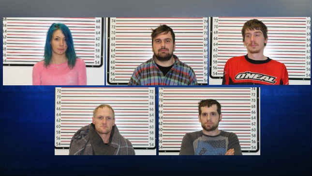 (Top Row Left to Right) Clarissa Moore, Daniel Greenfield, and Dakota Weirup.(Bottom Row Left to Right) Duane Scovill and Conrad Weirup. (Courtesy: Clatsop County Sheriff's Office)