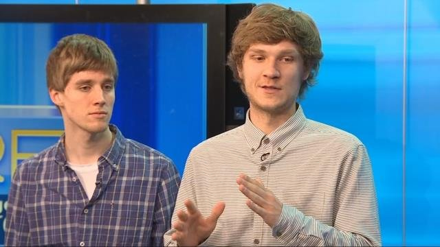 """Go Rogue"" fan film winners Justin Nelson and Joel Eddel-Blute (KPTV)"