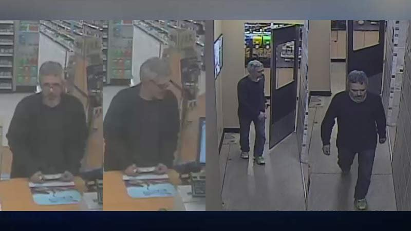 Surveillance images of wanted suspect in Salem (Images released by Salem PD)