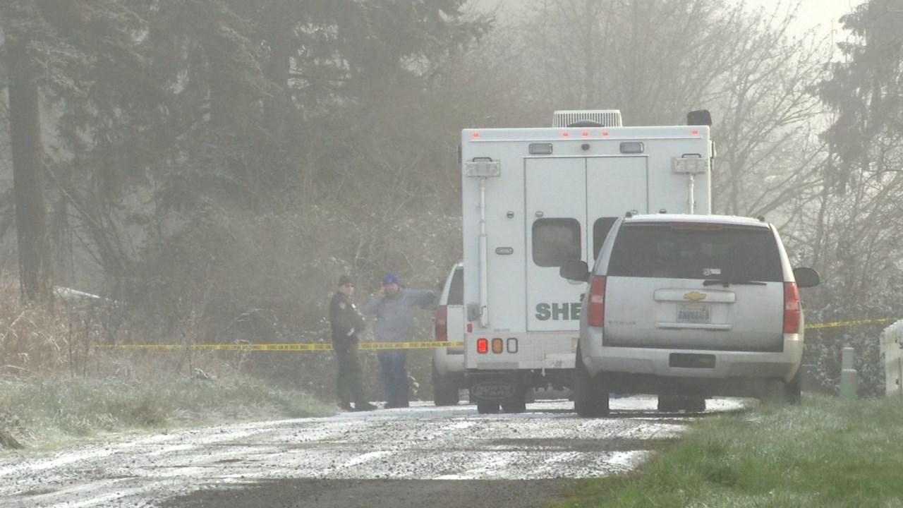 Officer-involved shooting scene in Ridgefield on Sunday morning. (KPTV)