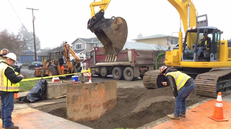Sinkhole repair work (Photo: Portland Environmental Services)
