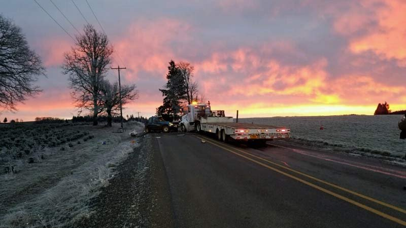 Deadly Highway 214 crash (Photo: Oregon State Police)