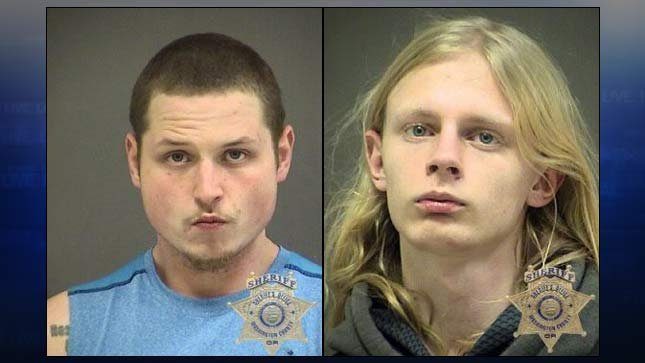 Matthew Evarts, Tristan Alexander, jail booking photos