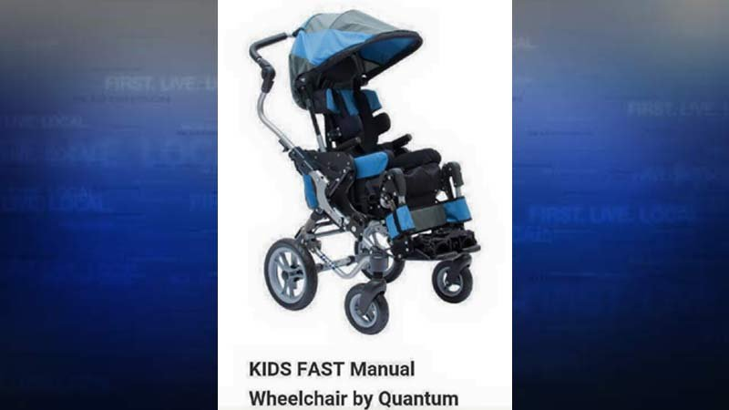 Photo of child's wheelchair that was stolen, along with 2004 Chevrolet Suburban, in NW Portland. (Source: Portland Police Bureau)