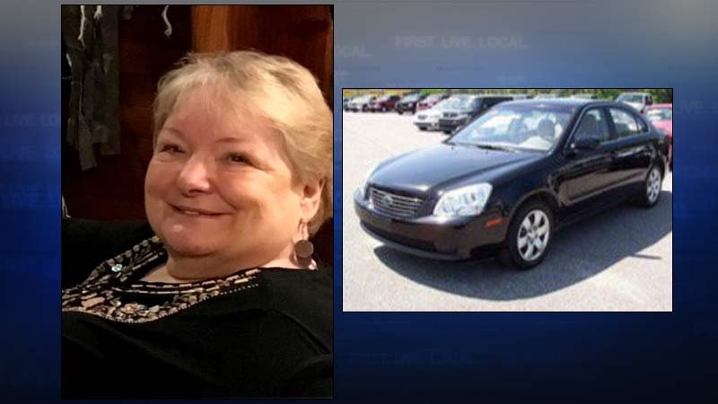 Merrilee Bonnie Cooley and a photo of a 2010 Kia Optima (Photos: Clackamas County Sheriff's Office)