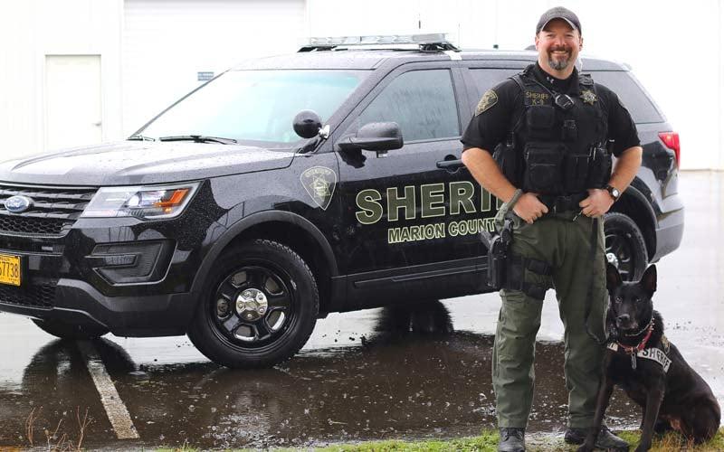 Marion County Deputy Jon Gadberry and K-9 Donja (Photo: Marion County Sheriff's Office)