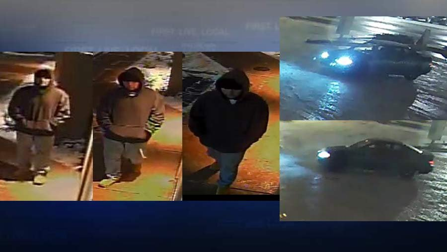 Surveillance images of McMinnville Taco Bell attempted robbery suspect and the car he left the scene in. (Images released by McMinnville PD)