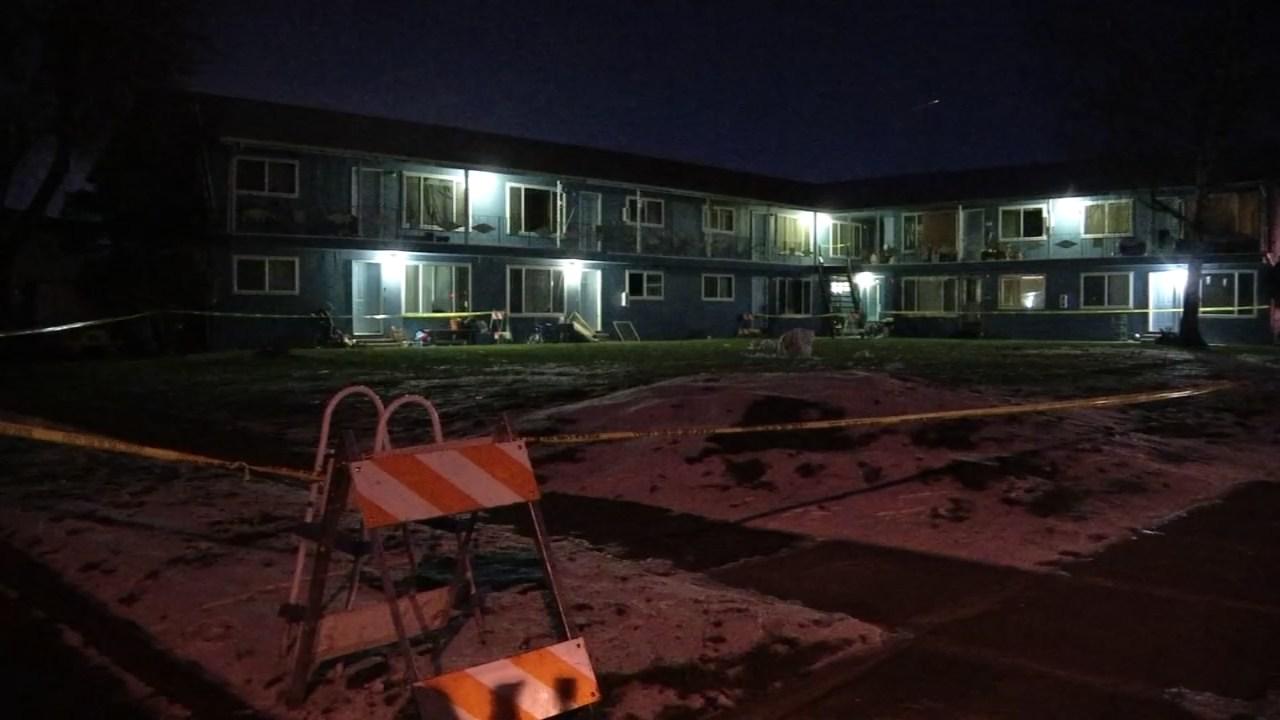 Scene of murder investigation in Keizer. (KPTV)