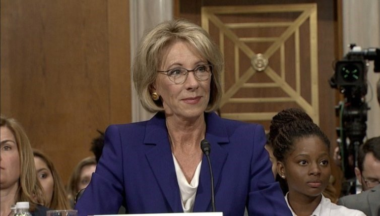 In a tense exchange, Sen. Elizabeth Warren repeatedly questioned Donald Trump's education secretary nominee Betsy DeVos on Tuesday over her commitment to protecting taxpayers from student loan abuse. (CNN)