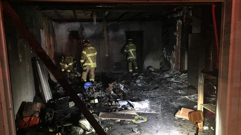 Arson investigation at house fire in Scappoose. (Photo: Scappoose Police Department)