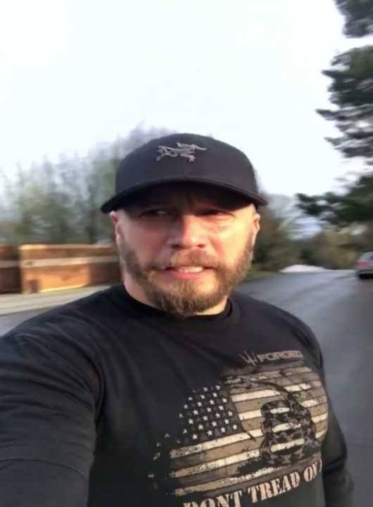 In a Facebook video that has since gone viral, Happy Valley resident Eric Post spoke out against the flag burning, saying it disrespected veterans and fallen soldiers, like those at Willamette National Cemetery. (Eric Post)