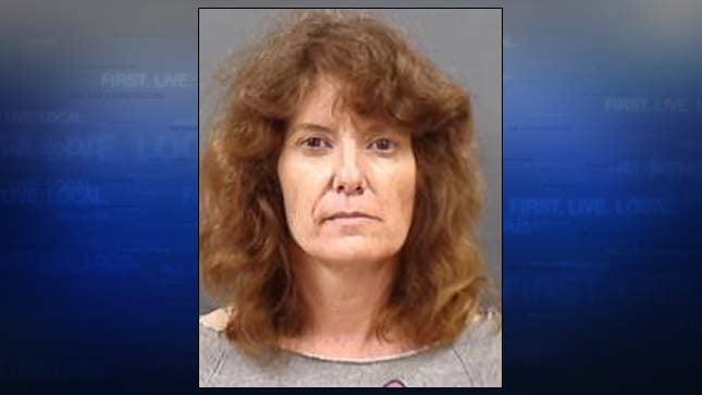 Jill Auxier, jail booking photo