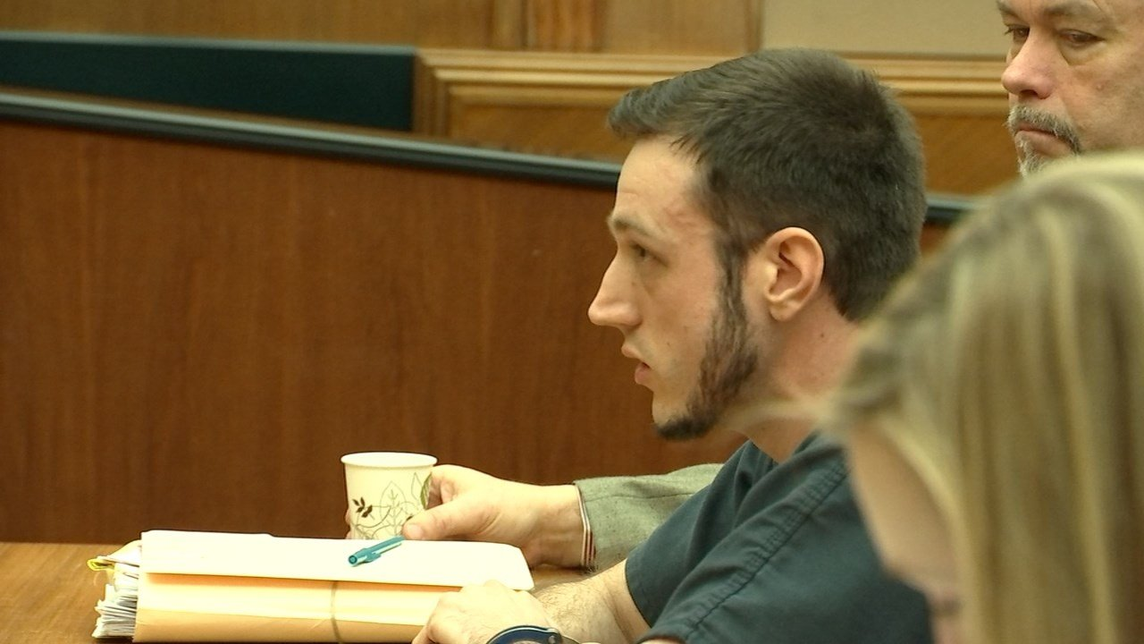 Treven Perry in court on Tuesday. (KPTV)