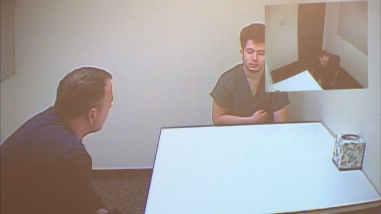 Jaime Tinoco being interviewed in connection with the killing of Nicole Laube in 2014. (KPTV)