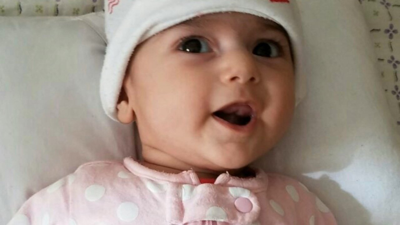 Four-month-old Fatemah (Photo: Sam Taghizadeh)