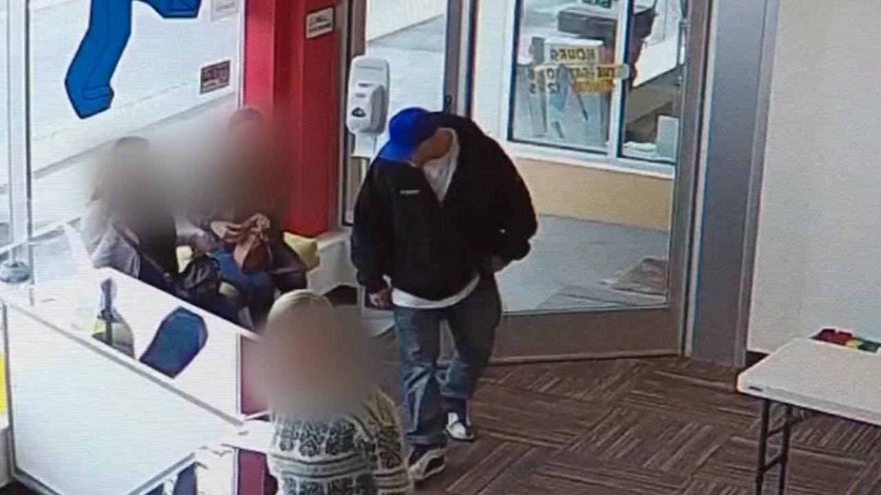 Surveillance image of theft suspect at Bricks & Minifigs. (Image: Bricks & Minifigs/KPTV)