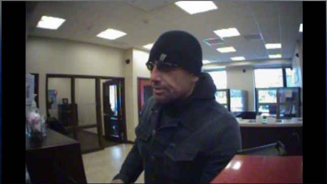 Surveillance image of the bank robbery suspect. (Courtesy: Portland Police Bureau)