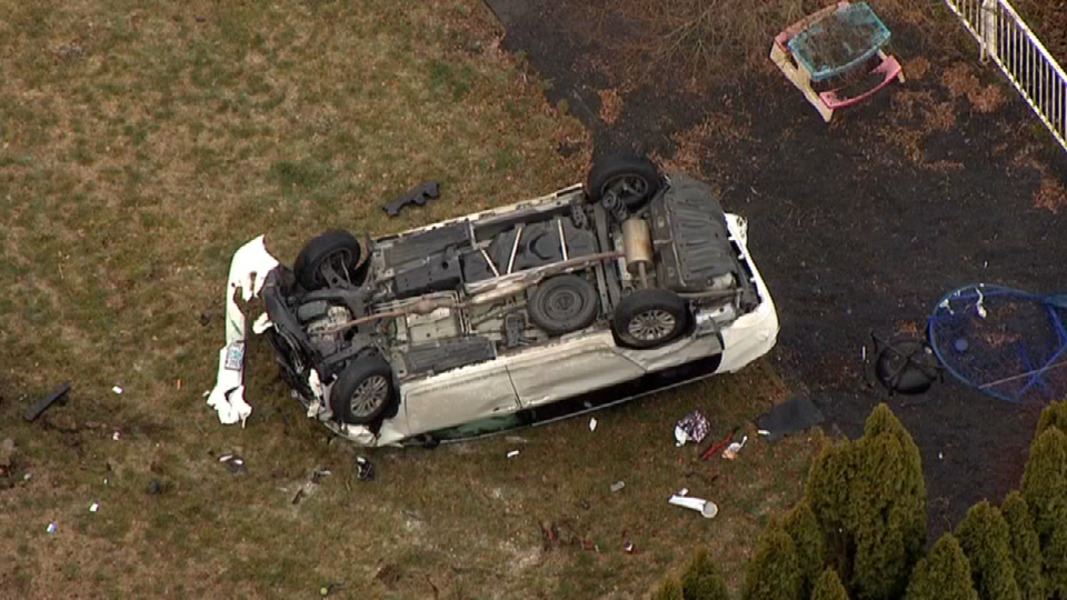 AIR 12 over rollover in Southeast Portland