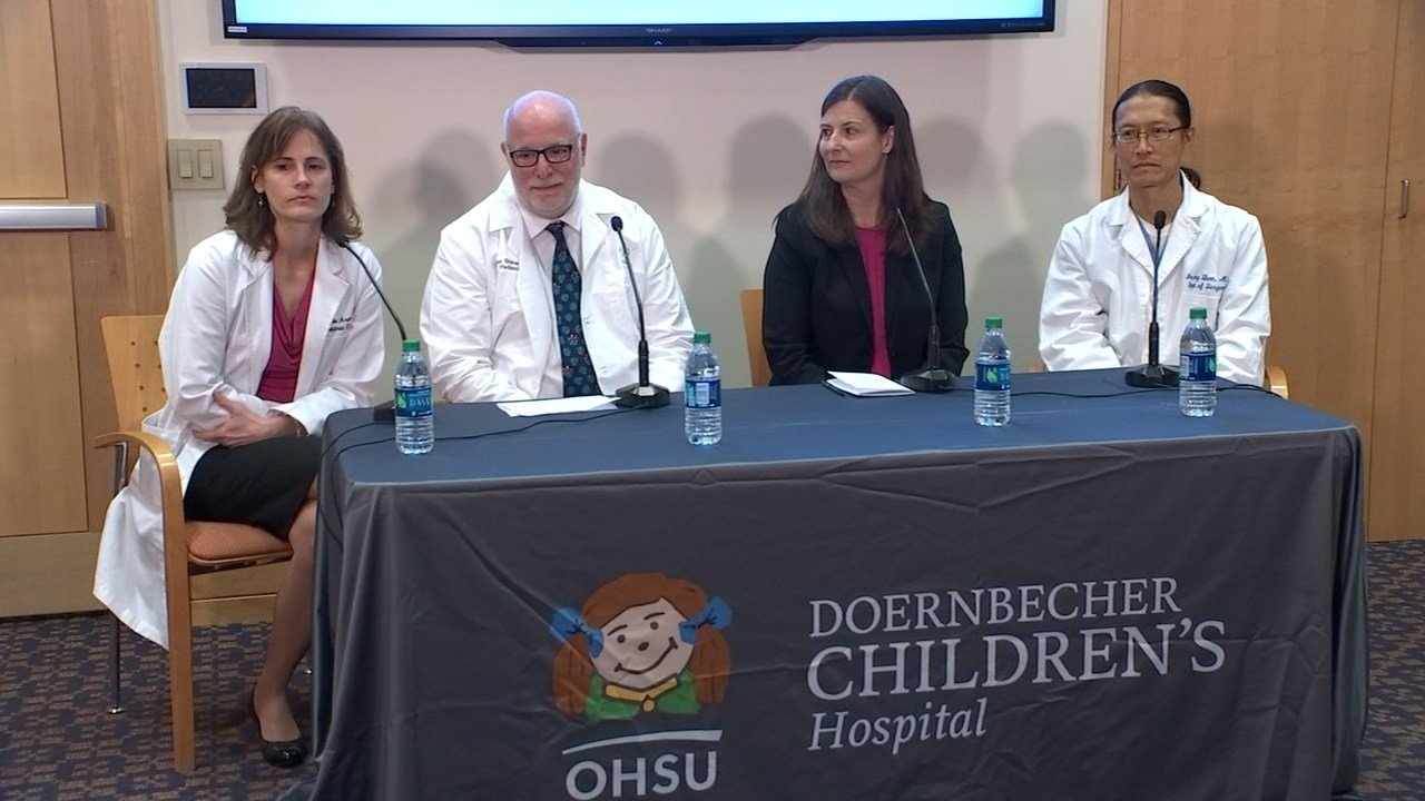 OHSU doctors speaking at a press conference Saturday morning. (KPTV)
