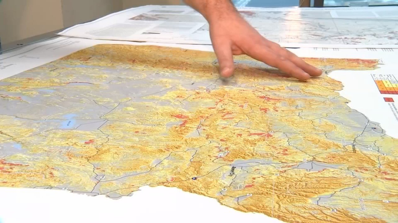 State geologists have used LIDAR technology to map thousands of historical landslides in an effort to better predict future slide locations. (KPTV)