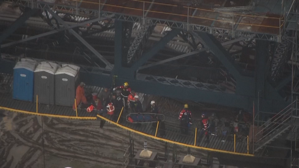 AIR 12 over rope rescue scene
