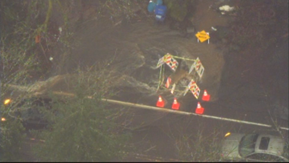 AIR 12 over rushing water on NW Germantown Road