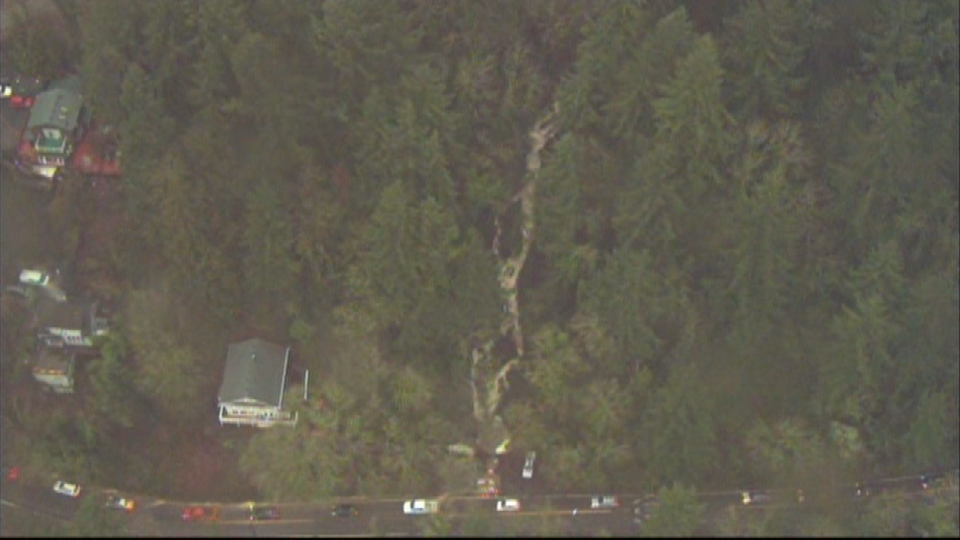 AIR 12 over rushing water along NW Germantown Road