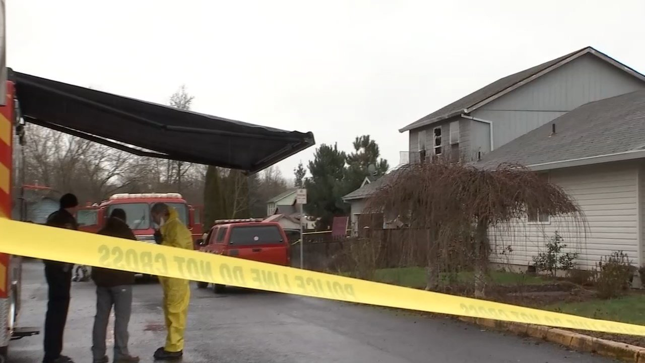 A woman was found dead in a burning Newberg home. (KPTV)