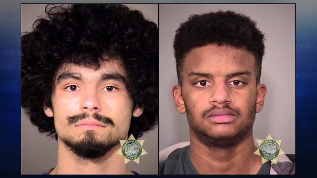 Elijah K. Gerard, 19, and David Deron Lewis Jr., 19. Jail booking photos