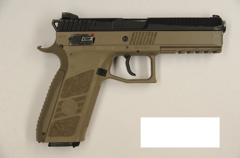 Portland Police Buerau investigators say Quanice  Hayes was armed with this replica firearm at the time of a robbery and officer-involved shooting Thursday. (Portland Police Bureau)
