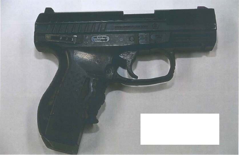 According to investigators with the Portland Police Bureau, 56-year-old Don Allan Perkins was armed with this replica firearm during an officer-involved shooting that sent him to the hospital Thursday. (Portland Police Bureau)