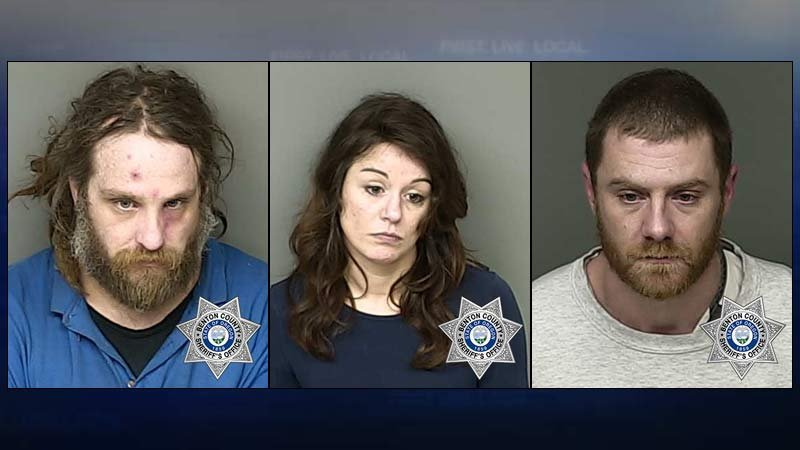 Kalvin Ellis, Kristina Hass, Richard Zib, jail booking photos