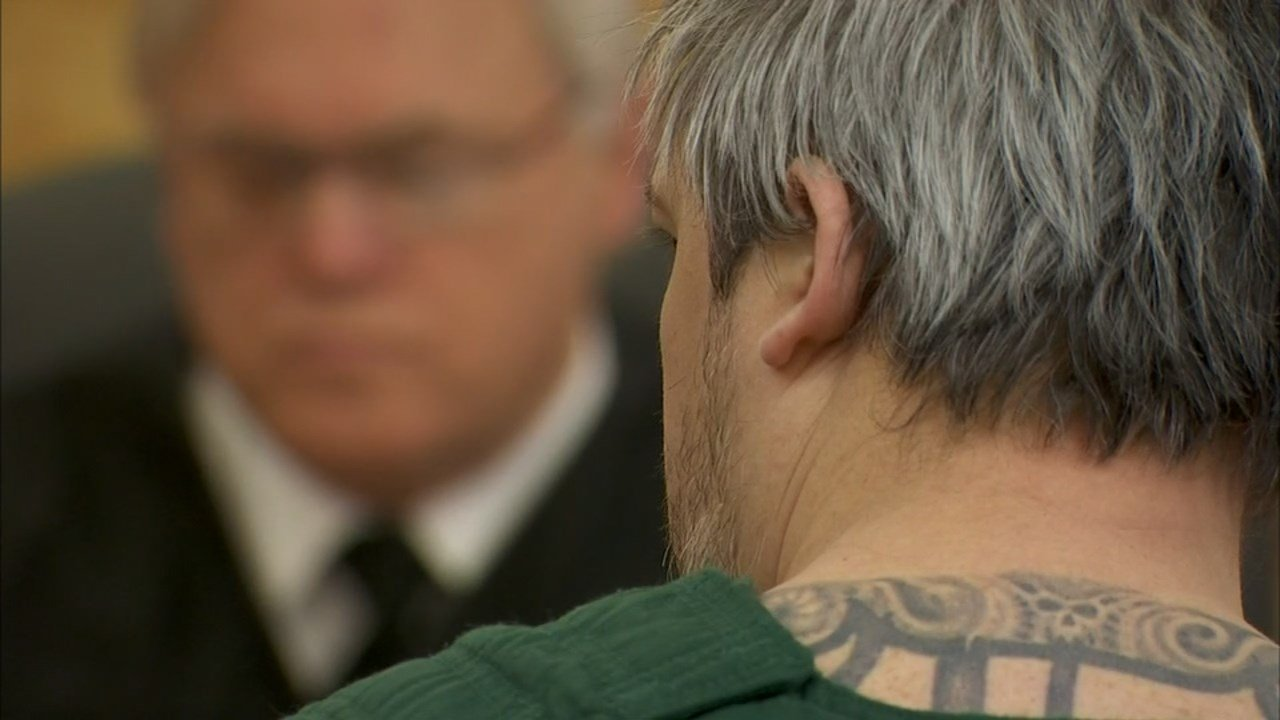Brent Luyster in court Tuesday. (KPTV)