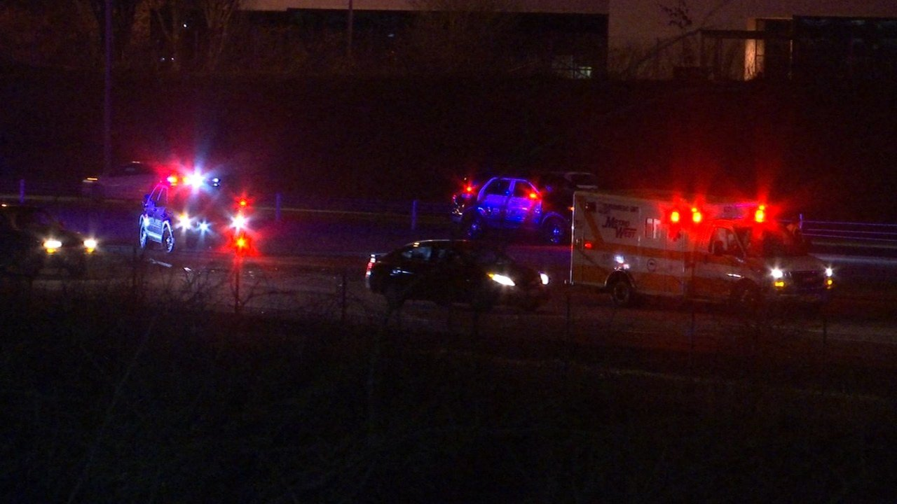 Deadly collision on Highway 26 near the Cornell Road exit on Monday night. (KPTV)