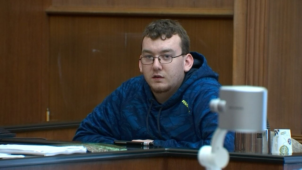 Justin Carey in court Wednesday. (KPTV)