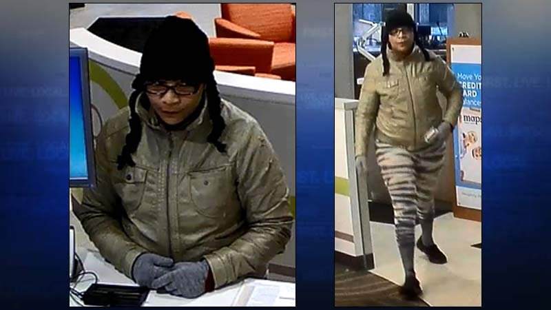 Keizer credit union robbery suspect (Images: Keizer PD)
