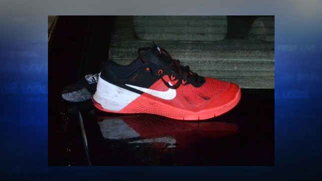 During a struggle with the suspects, the victim was able to grab a shoe worn by one of the suspects. (Courtesy: Washington County Sheriff's Office)