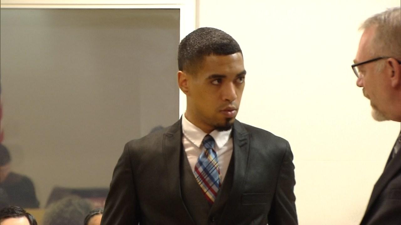 Micah Rhodes in court Friday. (KPTV)