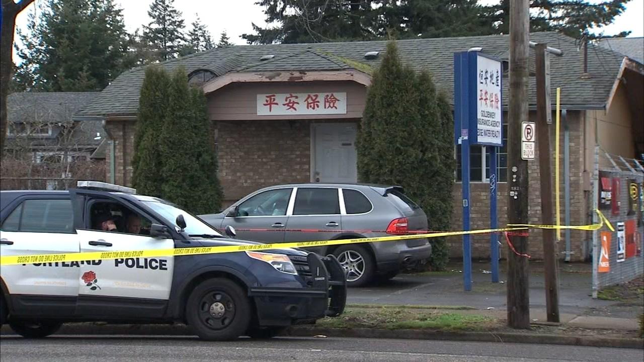 Shooting scene in southeast Portland. (KPTV)