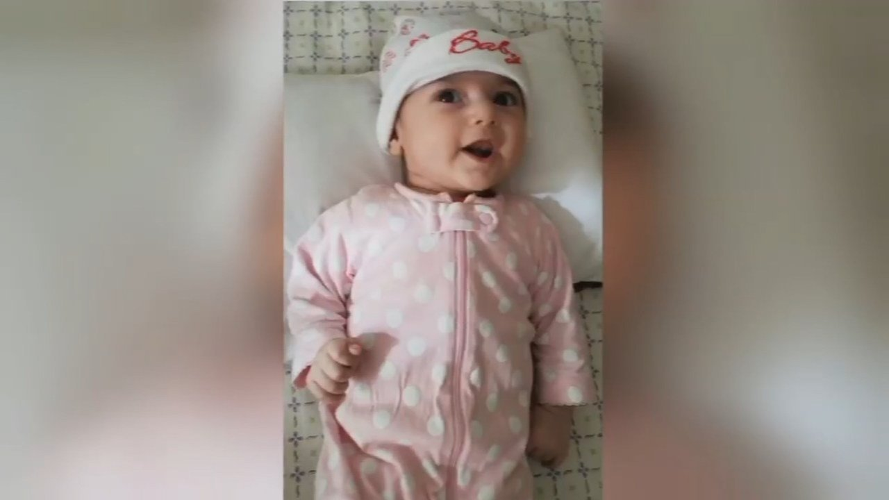 Four-month-old Fatemeh Reshad (Photo: Sam Taghizadeh)