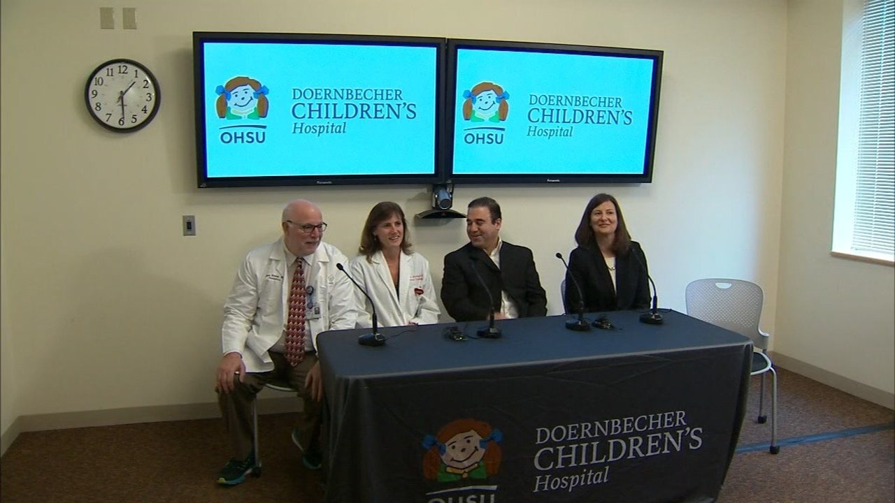 Doctors provided an update on baby Fatemeh's condition Monday. (KPTV)
