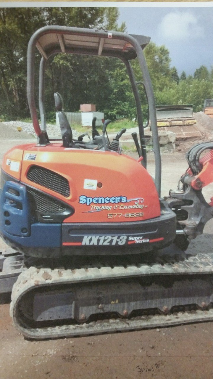 According to the Cowlitz Co. Sheriff's Office, this $40,000 excavator was stolen from a trucking and excavation business near Kelso between Friday night and Saturday morning. (Cowlitz Co. Sheriff's Office)