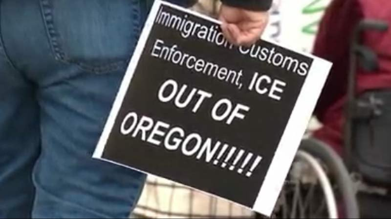KPTV file image from protest in Salem in February 2017.