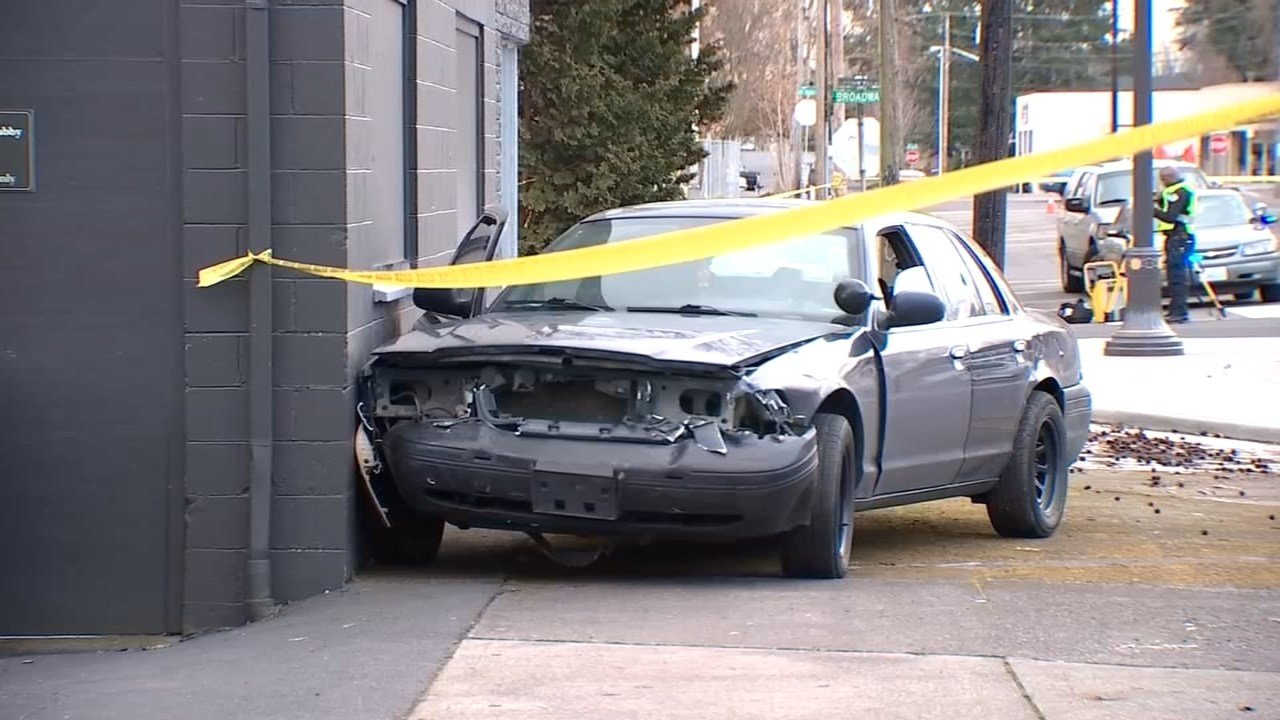 Suspect vehicle in Vancouver officer-involved shooting. (KPTV)