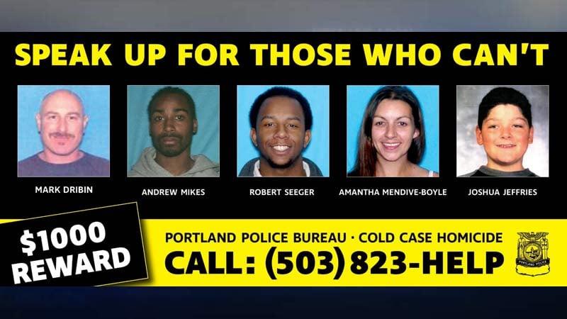 Image: Portland Police Bureau Cold Case Homicide Unit