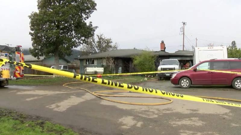 Deadly house fire in Riddle. (Image: CNN/KEZI)