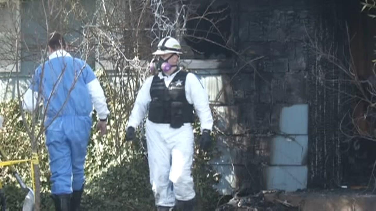 Scene of deadly house fire in Riddle (KEZI/CNN)